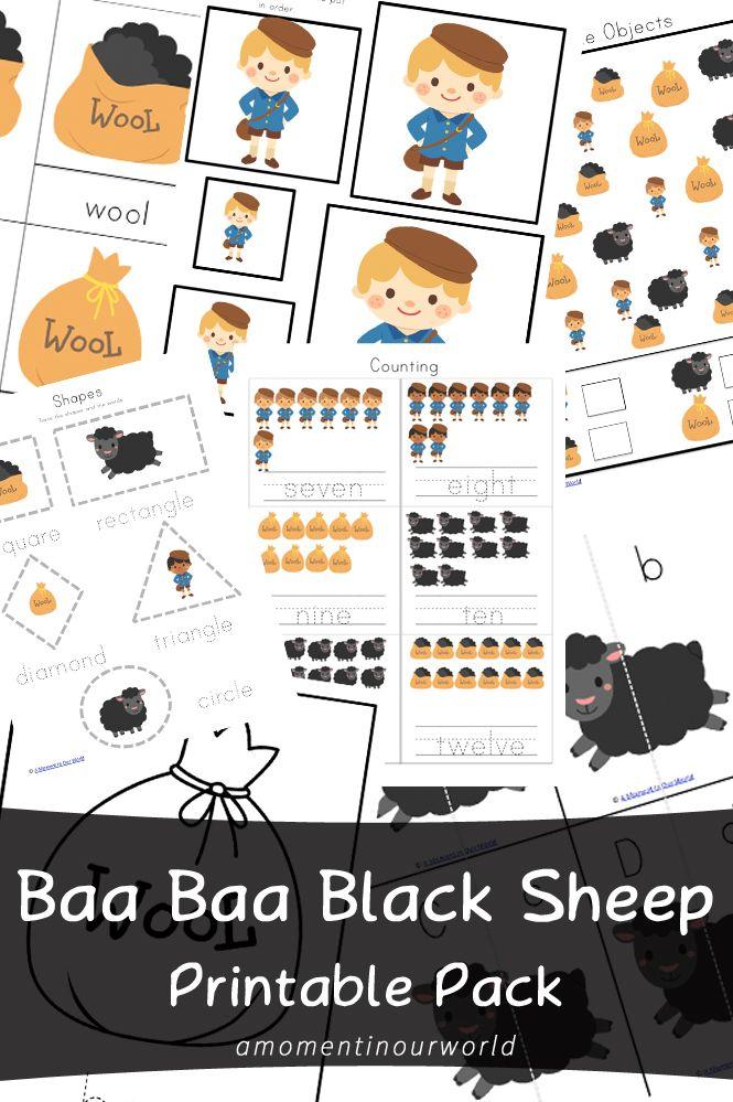 FREE Baa Baa Black Sheep pack