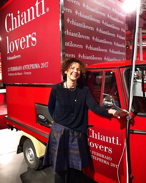 Diletta Malenchini at Chianti Lovers 2017 wine event in Florence, Italy, where she showcased the estates latest harvest of Chianti 2016