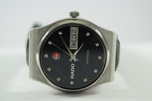 100-AUTHENTIC-VINTAGE-RADO-VOYAGER-17-JEWELS-AUTOMATIC-SWISS-MENS-WRIST-WATCH