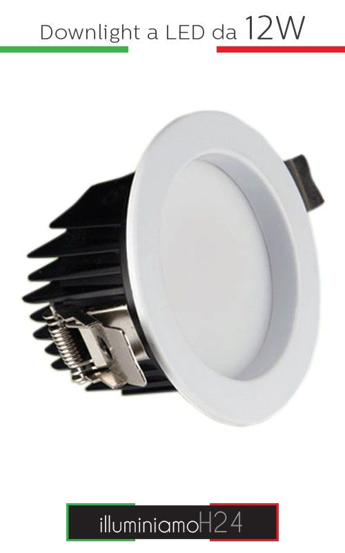 Downlight a led da 12W - 3000°K Warm White