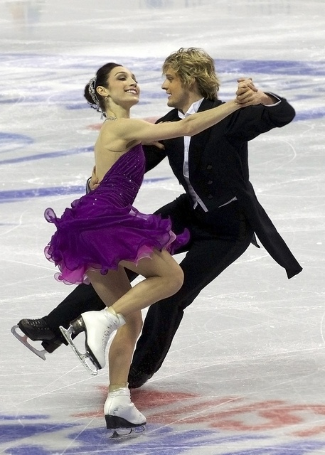 Meryl Davis & Charlie White - USA ice dance. I taught Meryl Davis 7th grade Science...I am sure the Forces and Motion unit taught her all she needed to know to become a Champion! :)