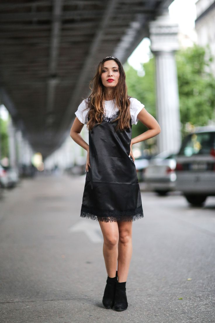White t shirt fashion tips - 30 Ways To Wear Your Go To Black Dress All Summer