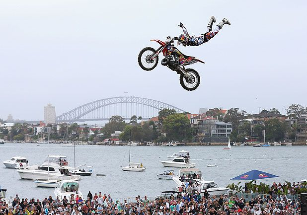Levi Sherwood - Palmerston North's latest millionaire was the youngest ever winner of the Red-Bull X Fighters tour championship.