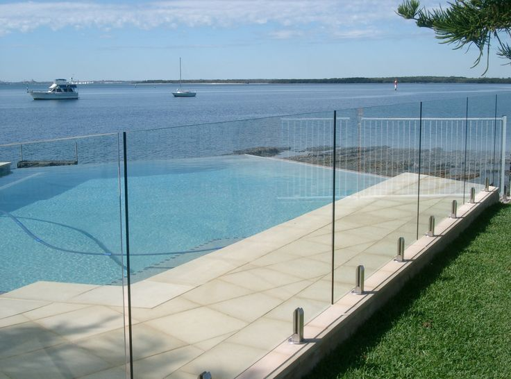 EnduroShield easy clean glass treatment applied to both sides of glass pool fence