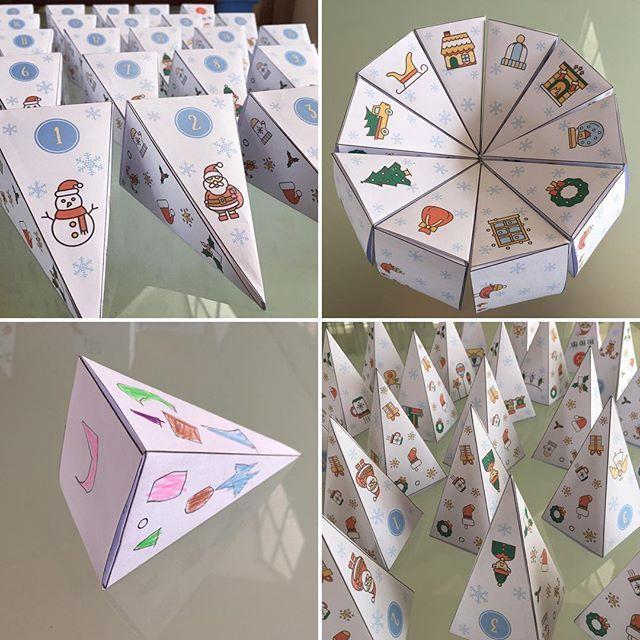 Nouveau calendrier de l'Avent à télécharger sur le blog 🎅🏽🎄☃️ #hohoho #unjourunjeu #calendrierdelavent #christmascrafts #christmascalendar #printable #diy #craftsforkids #kidscrafts #kidscrafts101 #ornaments101