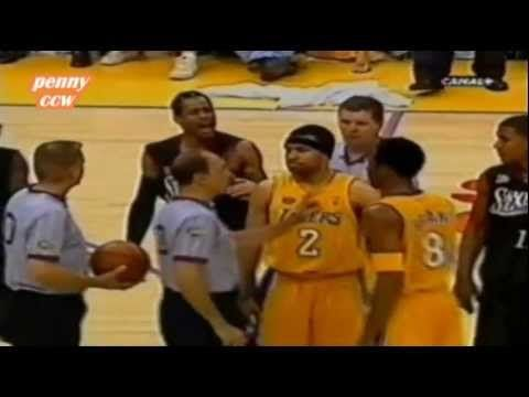 Allen Iverson Highlight vs Kobe Shaq Lakers 2001 NBA Finals Game 2 *Argue with Kobe - http://weheartlakers.com/showtime-lakers/allen-iverson-highlight-vs-kobe-shaq-lakers-2001-nba-finals-game-2-argue-with-kobe