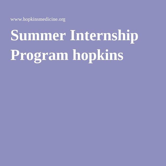 Summer Internship Program hopkins