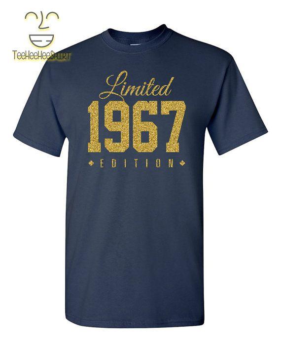 Limitada de ORO 1967 edición 50th cumpleaños partido camiseta, camisa de 50 años de edad, 50 año de edad, de edición limitada 50 aniversario fiesta t shirt por TeeHeeHeeShirt