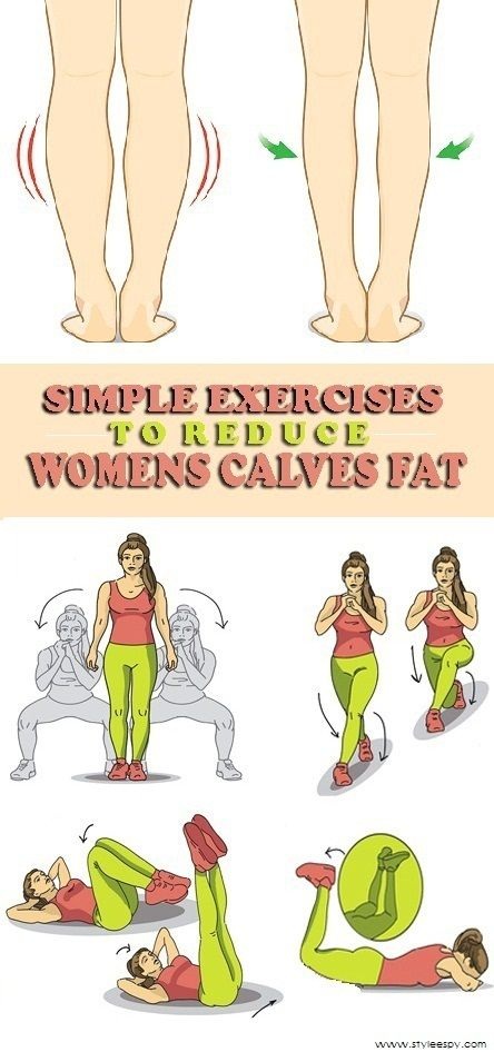 9 Simple Exercises To Reduce Women's Calves Fat