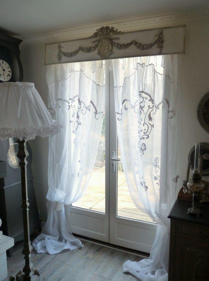 les 25 meilleures id es de la cat gorie rideaux shabby chic sur pinterest embrasses de rideaux. Black Bedroom Furniture Sets. Home Design Ideas