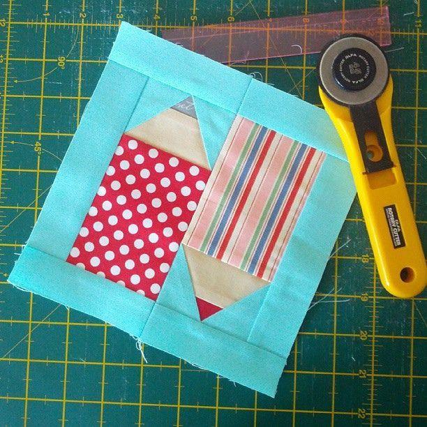 Pencils quilt block #thesewingroomswap | Flickr - Photo Sharing!