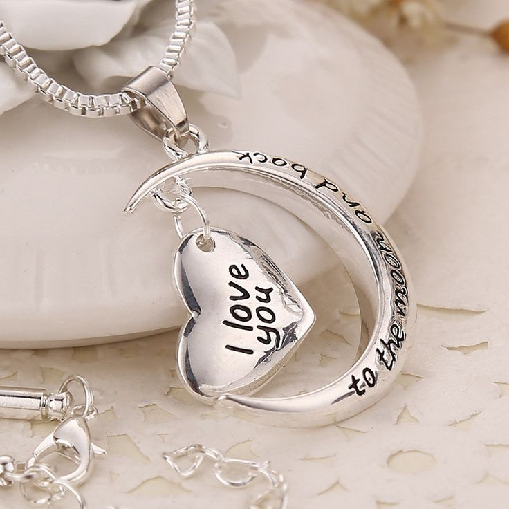 Cyber Monday Deals @JeremiahImports.com  2015 New Arrival ...  http://www.jeremiahimports.com/products/2015-new-arrival-high-quality-polish-shinny-silver-necklace-i-love-you-to-the-moon-and-back-necklace?utm_campaign=social_autopilot&utm_source=pin&utm_medium=pin
