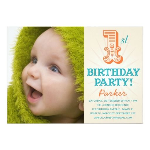 307 best 1st Birthday Invitations images on Pinterest 1st - invitation card for ist birthday