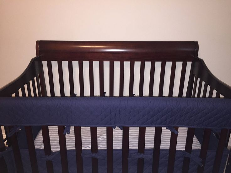 TEETHING RAIL GUARDS Rail Cover For Bumperless Bed Navy Unisex Teething Guards