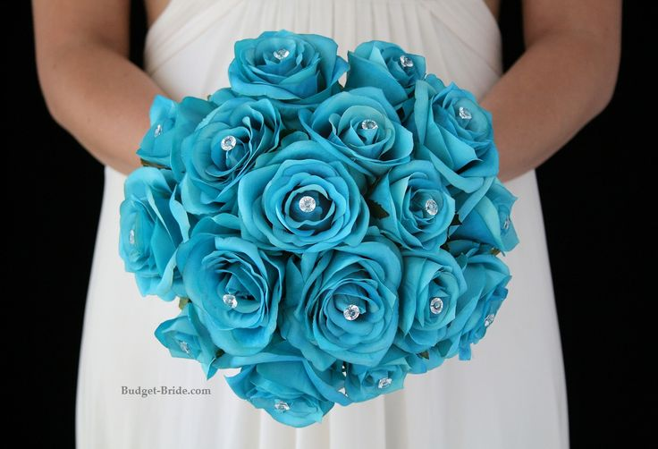 Turquoise Wedding Flower Package.  Complete Wedding Flowers Packages starting at $100