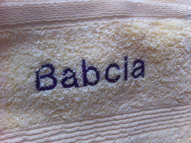 napis haftowany