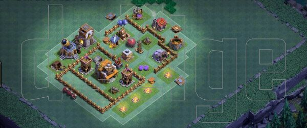 Clash of Clan : Base Pertahan Builder Base Level 4 (TH4)