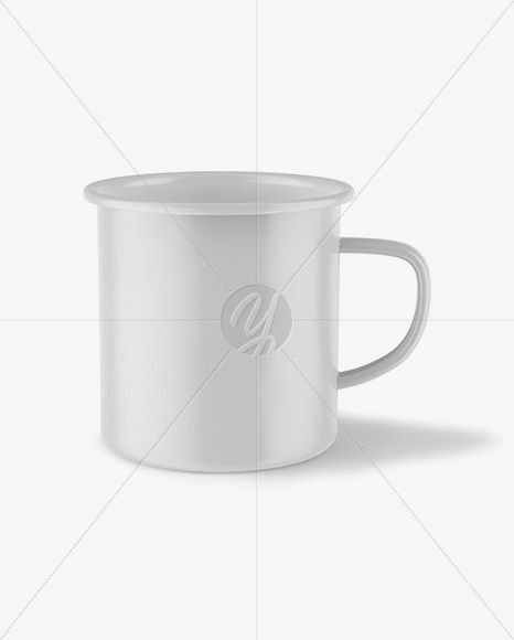 Matte Metal Cup - Front View (High Angle)