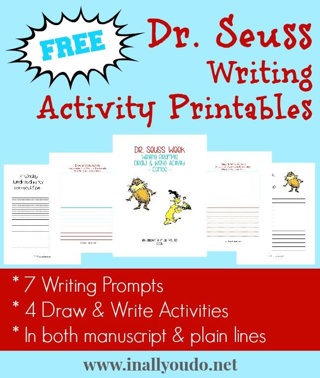 Free Dr. Seuss Writing Activity Printables
