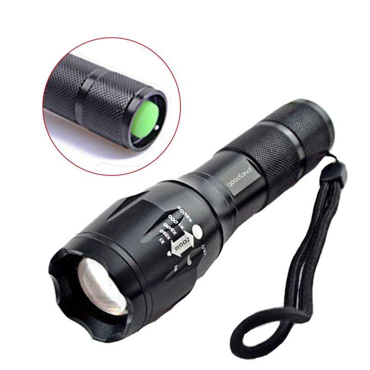 Tahan air DIPIMPIN Senter 5-mode 200 Meter Protable Torch Light Sepeda Cahaya Linterna Zoomable AAA/18650 Baterai Lanterna Tatica