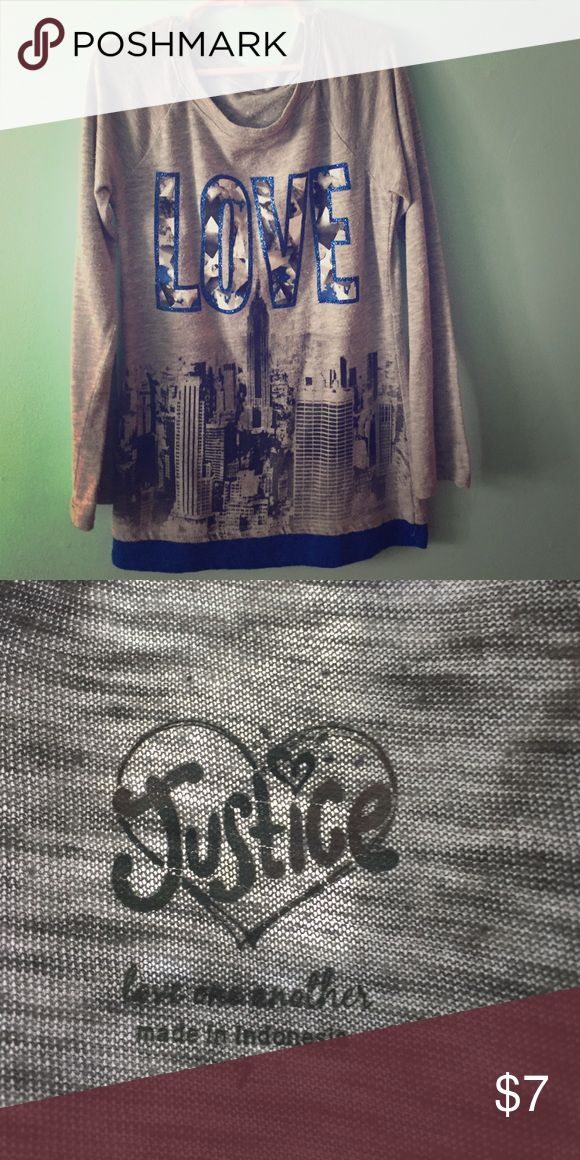 This a a Justice shirt. Skirt Justice Shirts & Tops Tees - Long Sleeve
