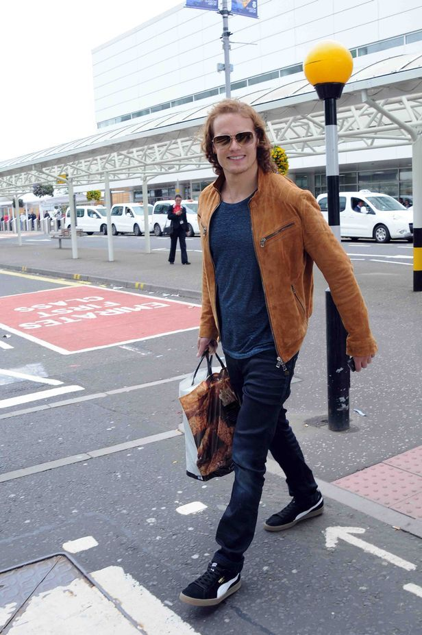 Sam at the airport via Scotland Now