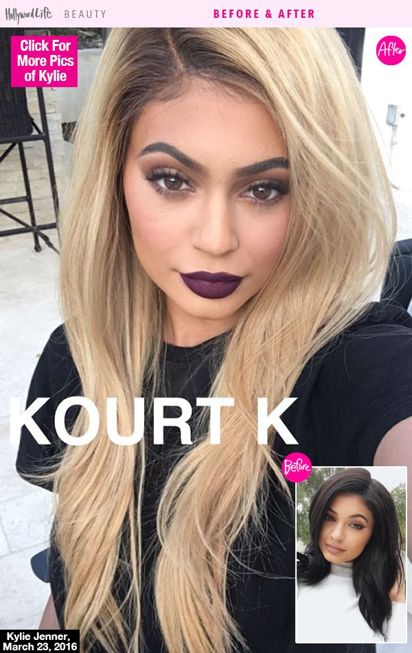 Kylie and her ever-changing hair color hit up the Justin Bieber concert in L.A. on March 23. Do you love her new hair look?