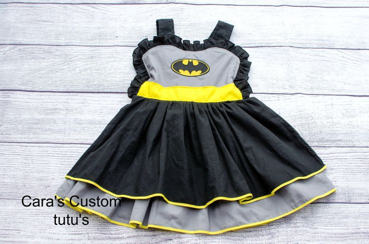 Excited to share the latest addition to my #etsy shop: Batman Dress- Girls Batman Dress- Superhero Dress- Bat Girl Dress- Batman Costume- Super hero Dress- Batman Birthday Party - Cosplay Costume