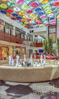 Colorful umbrellas at the mall by Claudia M Photography