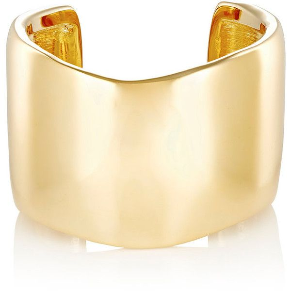 Jennifer Fisher Women's XL Flow Cuff ($975) ❤ liked on Polyvore featuring jewelry, bracelets, accessories, gold, 14k jewelry, cuff jewelry, 14k bangle, 14 karat gold jewelry and jennifer fisher