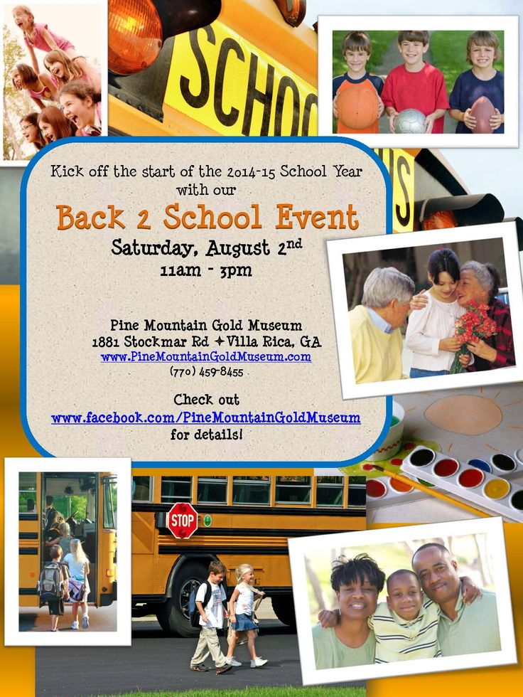 Fun for families to kick off the school year. FREE Crafts for the kids, face painting, games, prizes and give-aways!  We will be giving away 50 book bags!  Inflatable bounce houses will be available for only $5 per wristband that will allow play throughout the event in both bouce houses!  We will have food and other vendors on hand for great gift ideas!!  Come out and join the fun!! www.pinemountaingoldmuseum.com