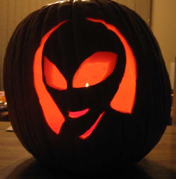 Alien jack o lantern i love halloween pinterest