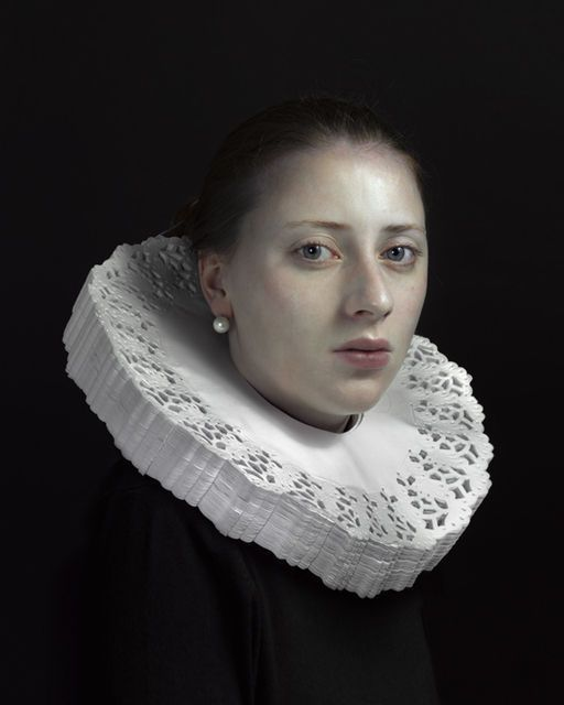 Hendrik Kerstens, Doily (2011).  This artist is recreating Old Master compositions with mundane, contemporary objects. Doilies!