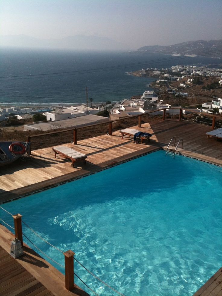 My hotel room view in Mykonos, Greece.  One of my favorite vacation spots ever.