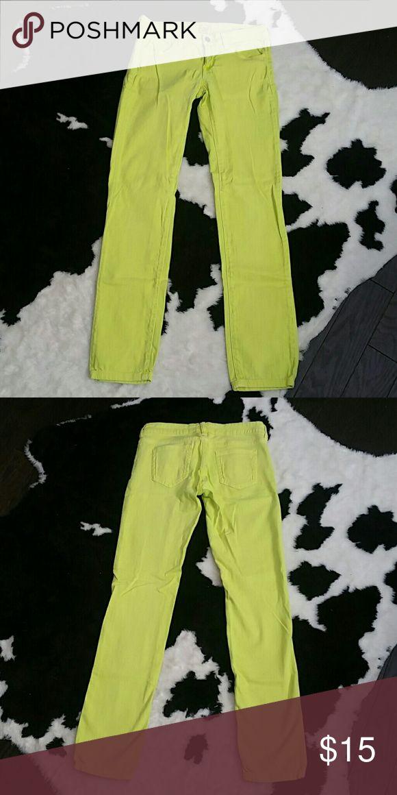 Arizona jeans Arizona bright yellow skinny jeans Arizona Jean Company Jeans Skinny