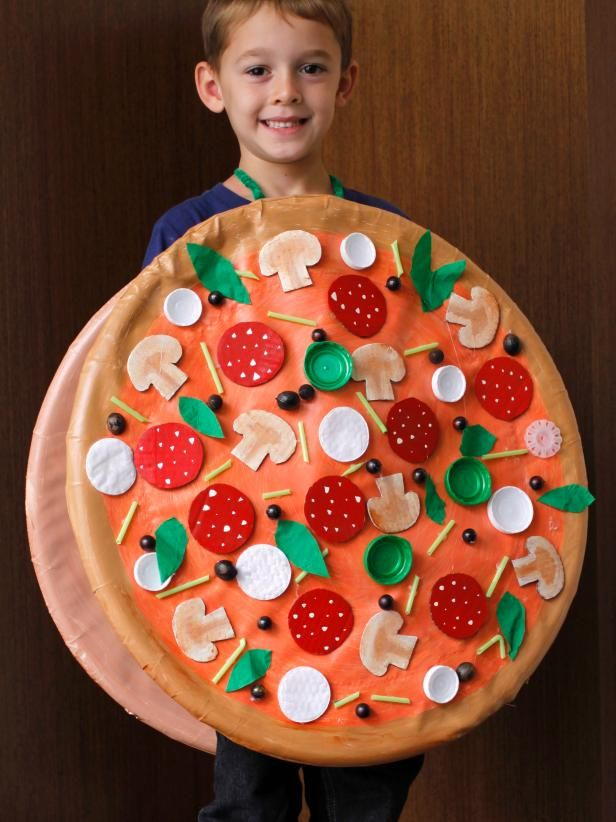 diy how to make a pizza costume my son would love this - How To Make Homemade Costumes For Halloween