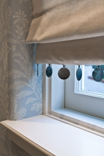 Roman blind detail - upgrades a small plin bind in the cloakroom...