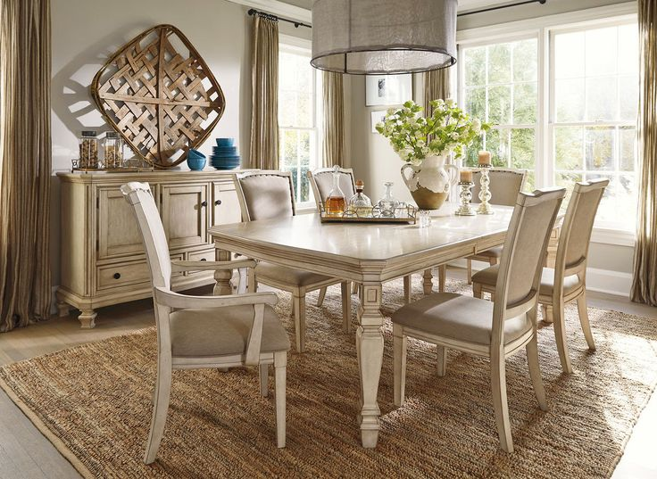 Ashley Furniture Demarlos 7 Piece Dining Room Group That Outlet Minnesotas 1