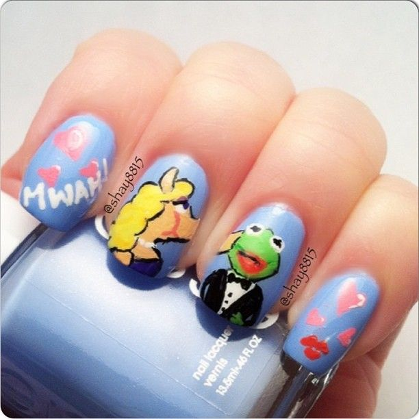 Frog Nail Art: 137 Best Images About Frog Nails On Pinterest