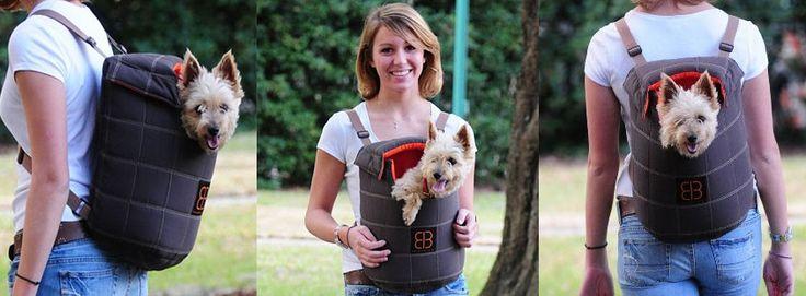 Dieser praktische Hunderucksack ist optimal für fußfaule, kranke oder alte kleine Hunde.   http://www.trendyhaustiershop.de/blog/hunderucksack/