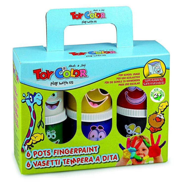 Setul de tempera pentru pictat cu degetele! Ce poate fi mai fun? http://www.dacris.net/produse-pentru-scoala/articole-pentru-pictura-toy-color/tempera-pentru-degete-toy-color-non-toxic-tc734-color-diverse-culori-manufacturer-toy-color-msrp-d