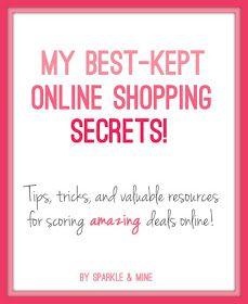 Tips, tricks, and valuable resources for scoring deals at all your favorite online retailers! Pin now, shop later!