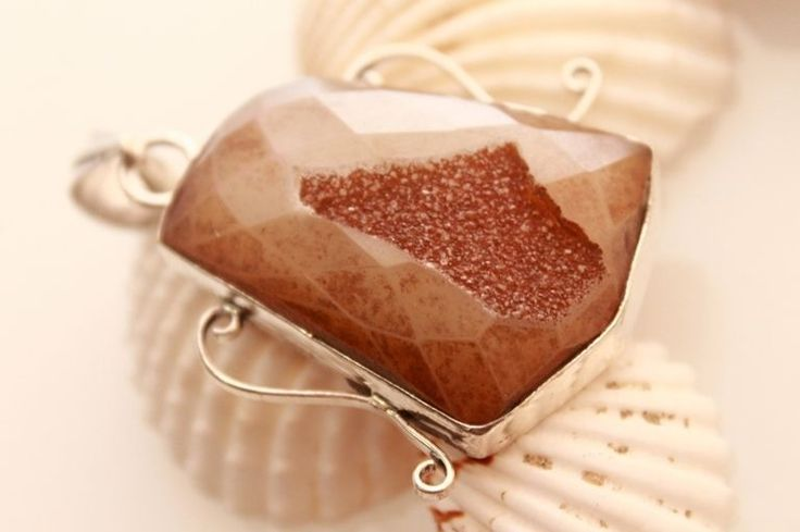 BROWN CHECKER CUT NEW FASHION JEWELRY 925 STERLING SILVER PENDANT NECKLACES 1304 #925silverpalace #Pendant