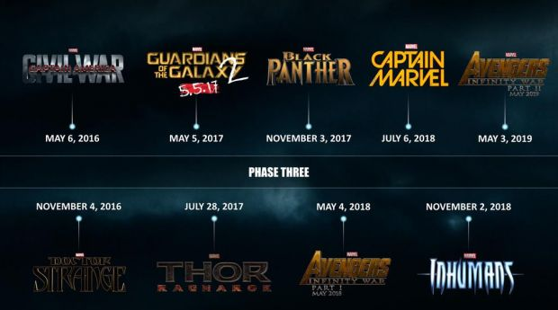Full Marvel Movie Release Calendar PEOPLE NEED TO KNOW ABOUT THIS!!!! Super excited for black panther and inhumans!