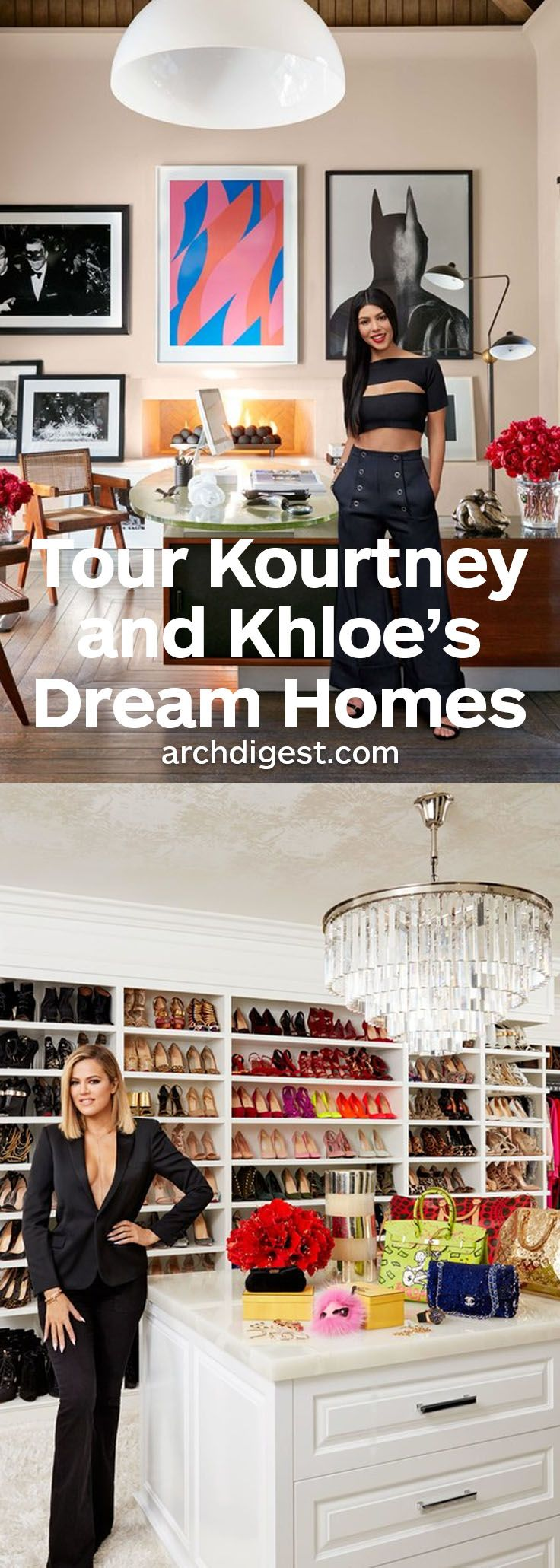 Khloé and Kourtney Kardashian share a TV show, a neighborhood, and even a decorator: the ingenious Martyn Lawrence Bullard. But when it comes to living, the celebrity siblings have their own distinctive styles | archdigest.com