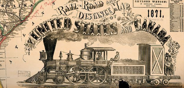 This Gaylord Watson railroad map of the United States dates from the early 1870s.