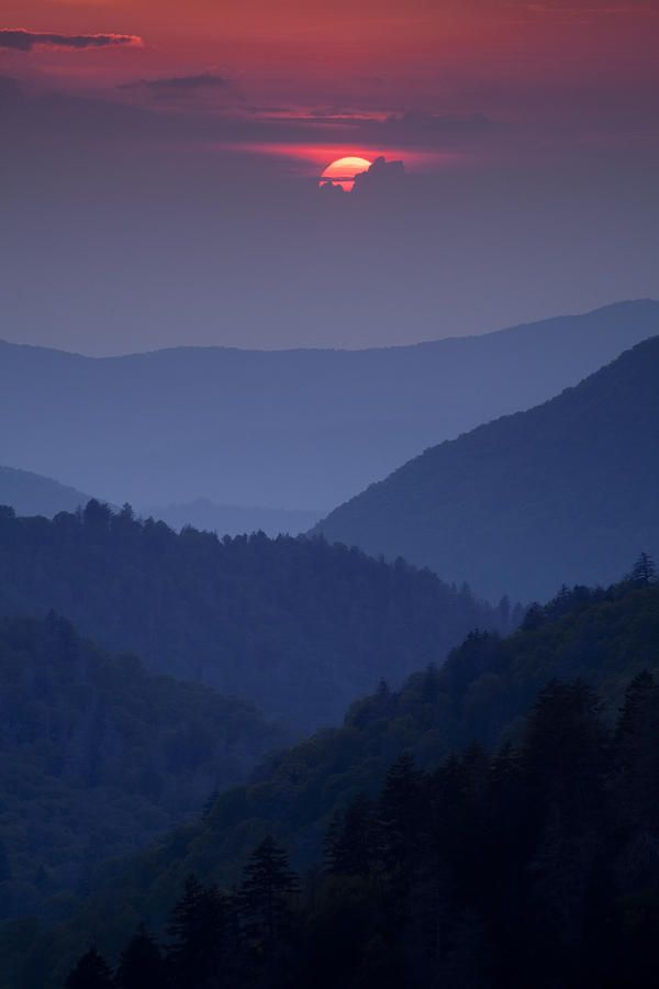 Smoky Mountain Sunset Photograph by Andrew Soundarajan - Smoky Mountain Sunset Fine Art Prints and Posters for Sale