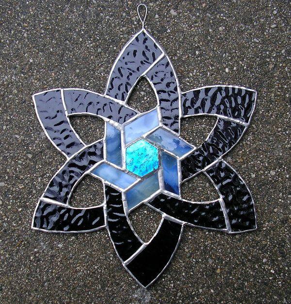 stain glass Celtic Star