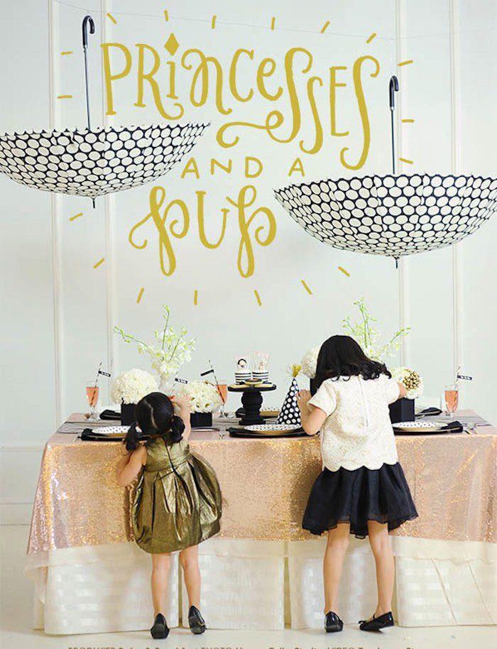 Princess & A Pup themed birthday party via Kara's Party Ideas KarasPartyIdeas.com | #princessandapupparty (39)