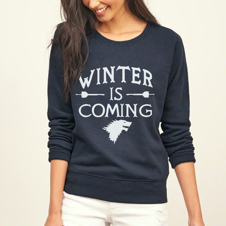 Funny Games of Thrones Winter Is Coming Women harajuku sweatshirt 2017  female Casual hip-hop hoodies kpop tracksuit mma pullover ce8b0b57bd3